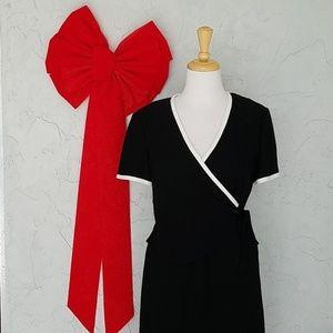 Evan Picone Black & White Dress